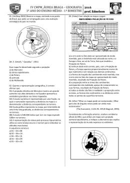 IV CMPM projeçoes cartograficas 1º ano 2016 PRINTER -