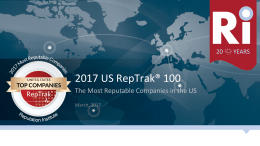 2017 US RepTrak100 The Most Reputable Companies in the US
