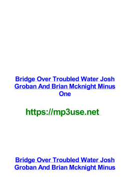 Bridge Over Troubled Water Josh Groban And Brian Mcknight Minus One