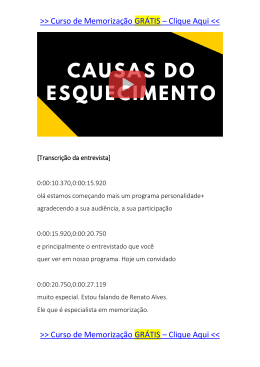 causas do esquecimento