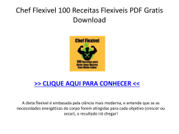 Chef Flexivel 100 Receitas Flexiveis PDF DOWNLOAD GRATIS