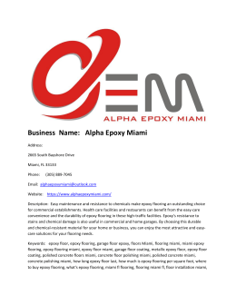 Alpha Epoxy Miami
